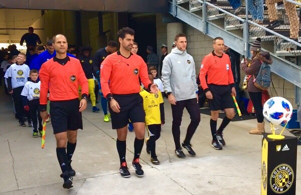 Empire United players walk out the Crew in MLS game