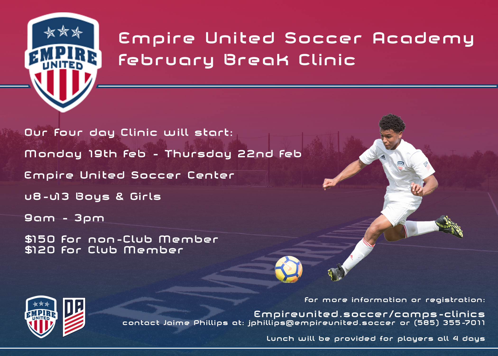 Empire United Soccer Academy February Break Clinic