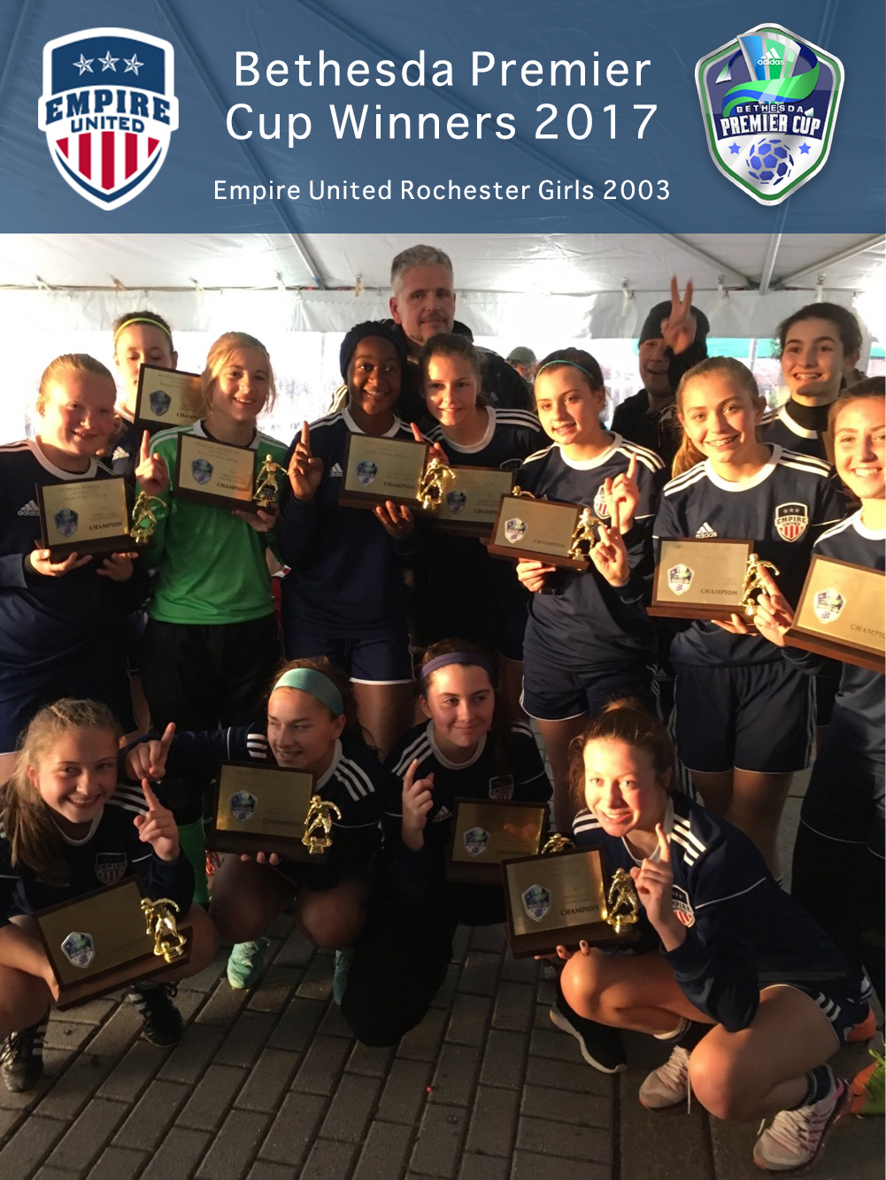 Empire United Rochester Girls 2003s win Bethesda Premier Cup National Bracket!