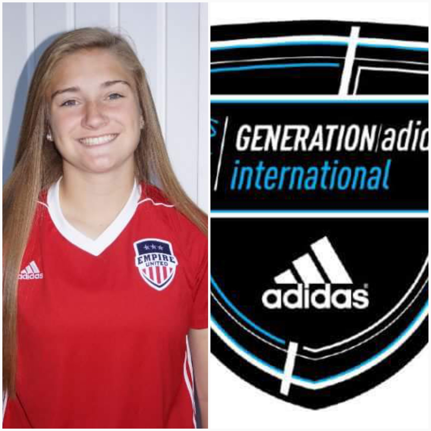 Empire United's Grace Allen secures spot with 2017 generation adidas international