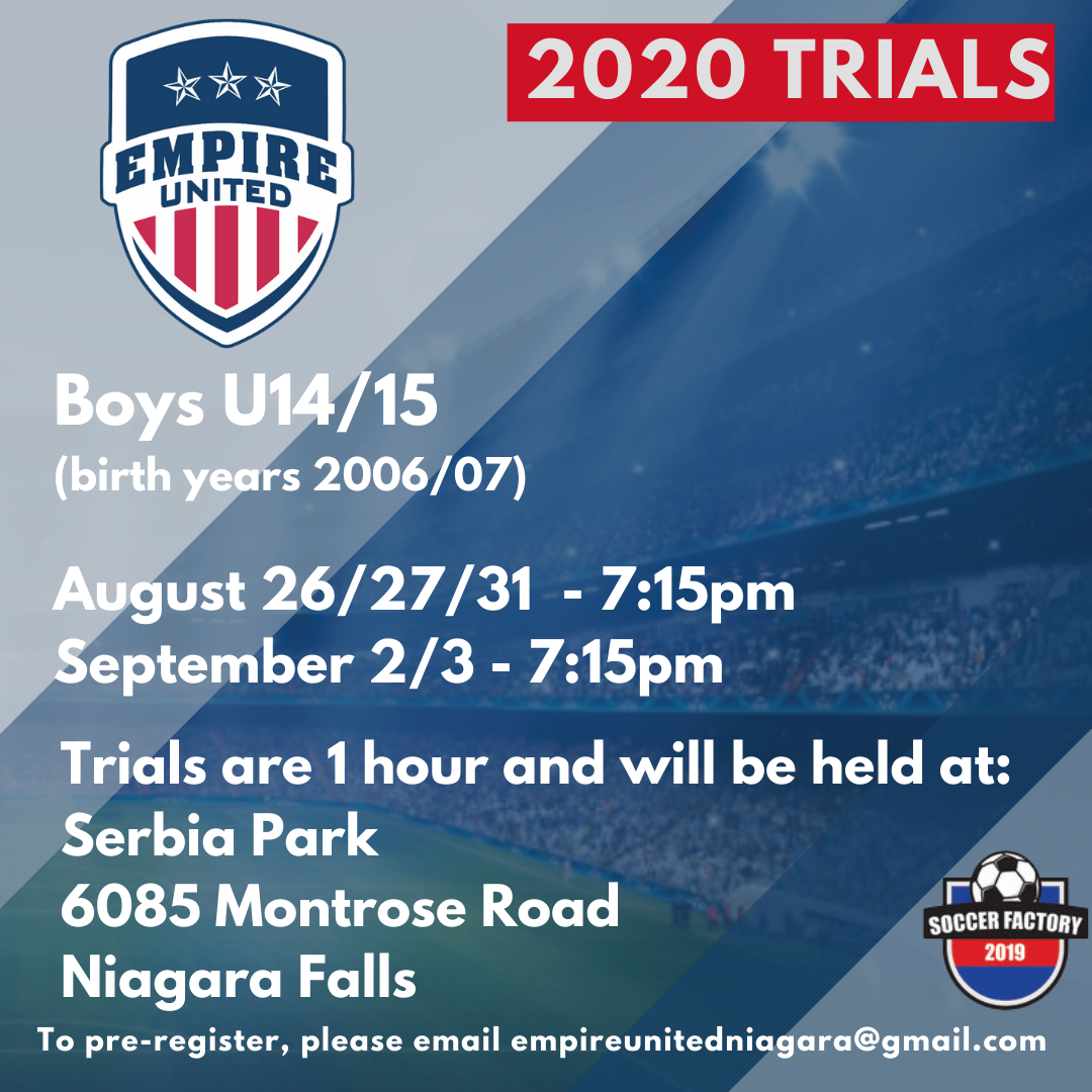 U14/15 Boys Team Tryouts